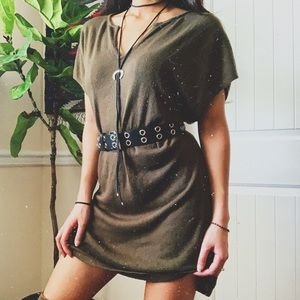 Miltary Green Comfy Dress
